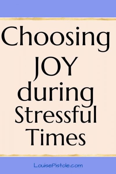 Choosing joy when you don't feel joyful