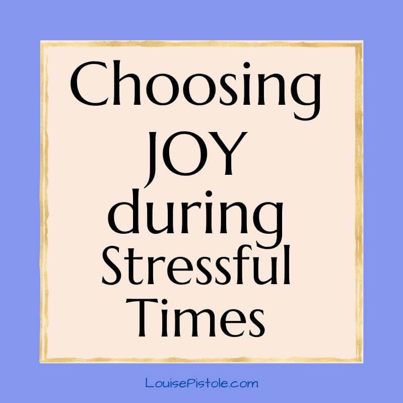 Choosing joy when you don't feel joyful