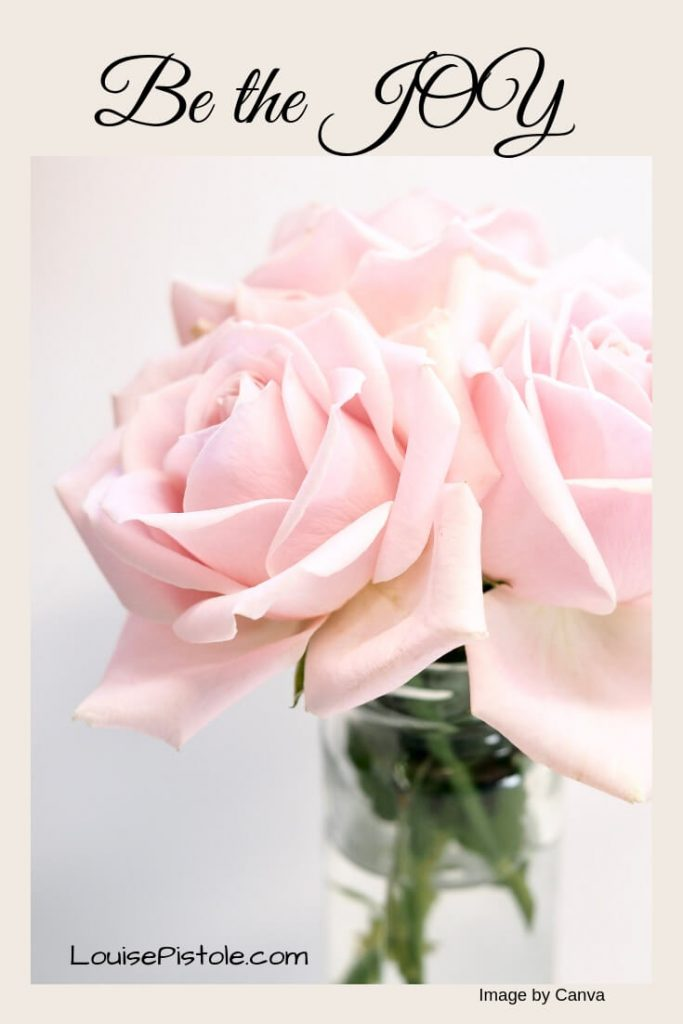 Be the JOY with a vase of blush roses