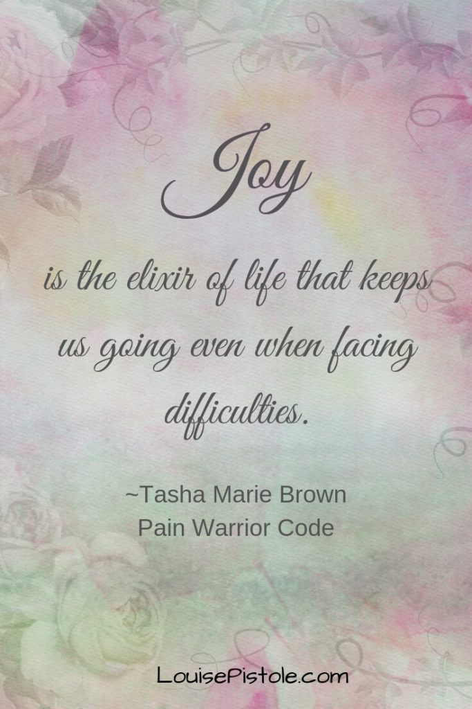 Pastel background with JOY is the elixir of life that keeps us going even when facing difficulties.