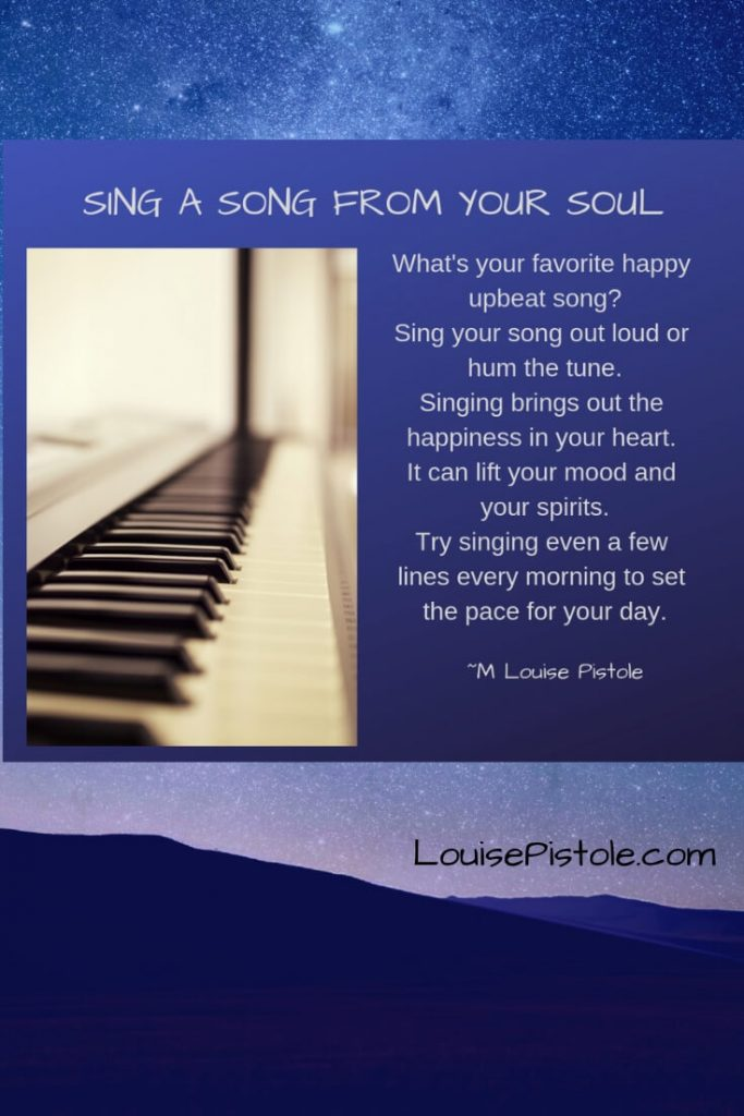 A piano keyboard. sing a song from your soul.
