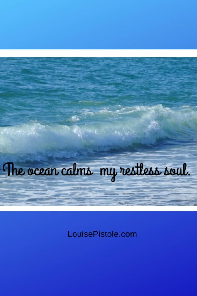 A photo of ocean waves. The ocean calms my restless soul.