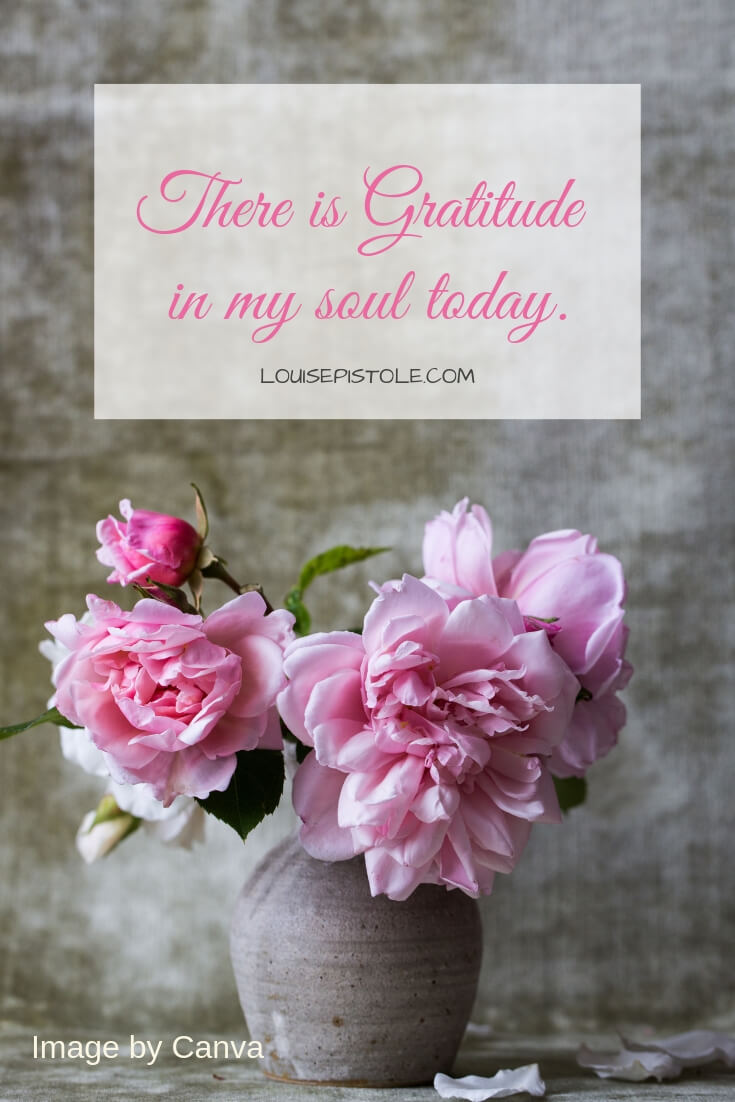 There is gratitude in my soul today