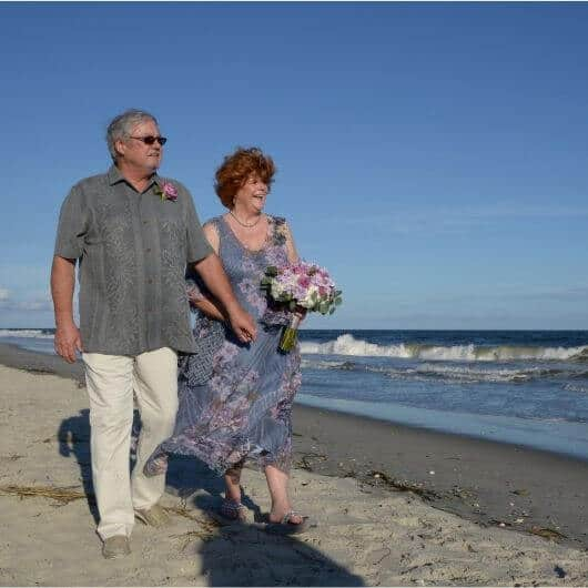 About me - wedding day on the beach