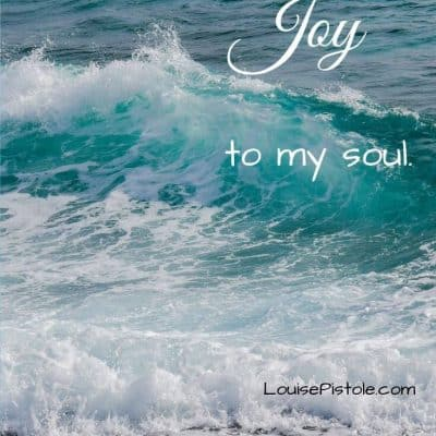 The ocean brings JOY to my soul. Check out my blog on Choosing JOY Every Day.