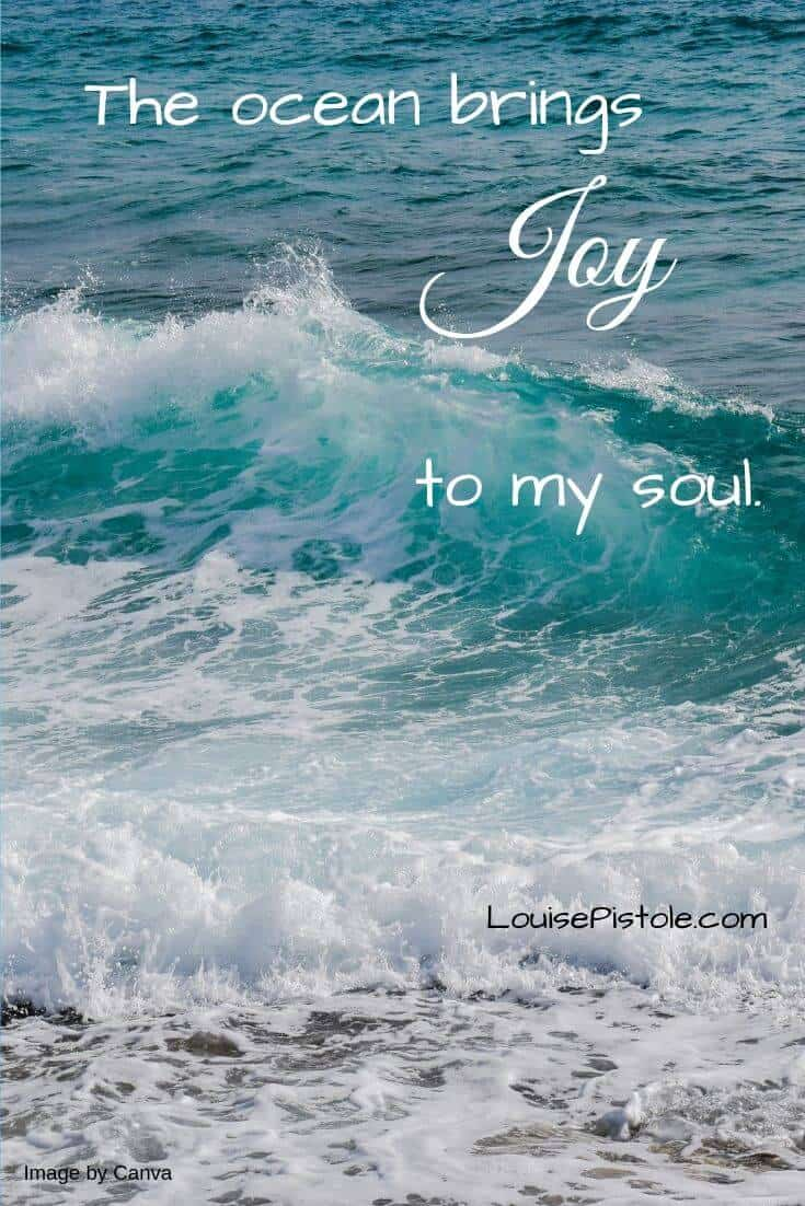 The ocean brings JOY to my soul.