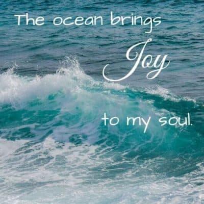 Ocean waves with The ocean brings Joy to my soul.