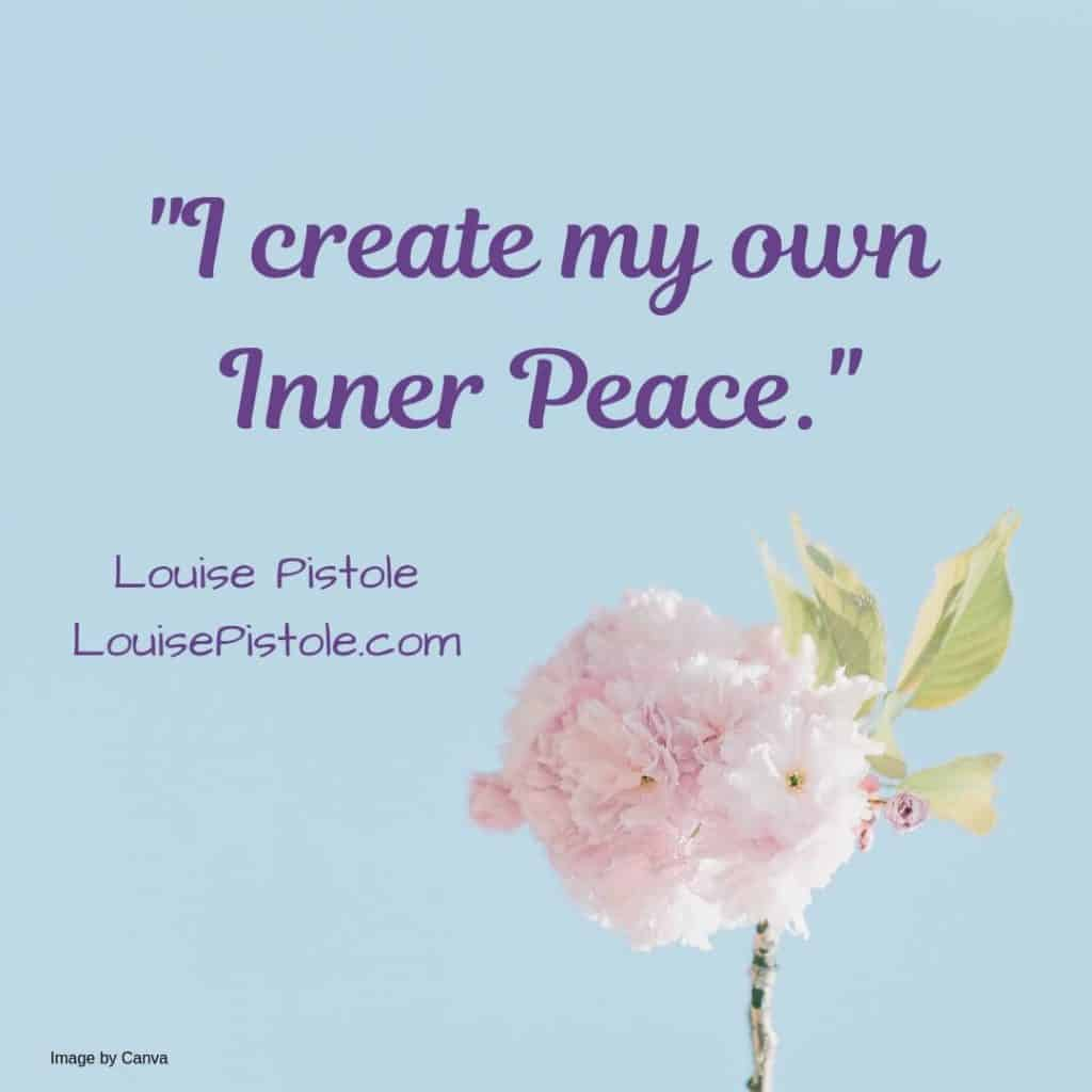 Flower with How to find Inner Peace through Self-Care Activities