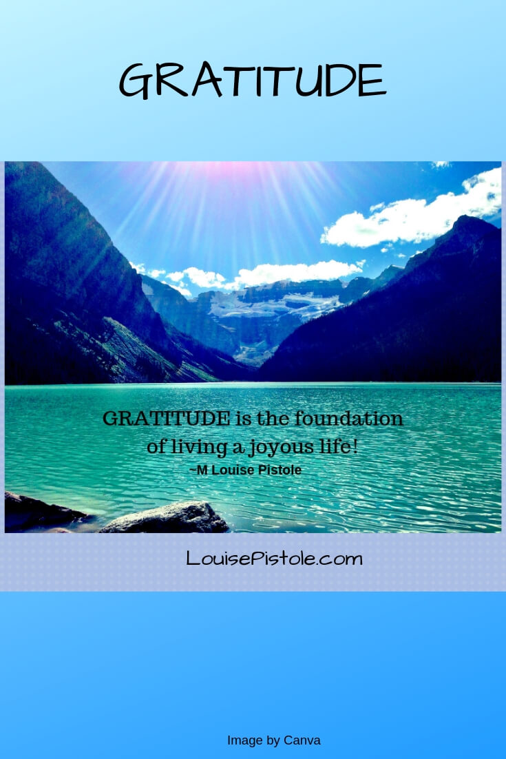 Gratitude is the foundation of living a joyous life