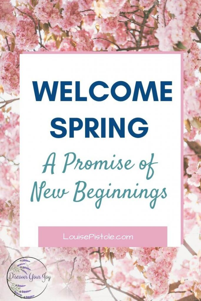 Welcome spring. A promise of new beginnings