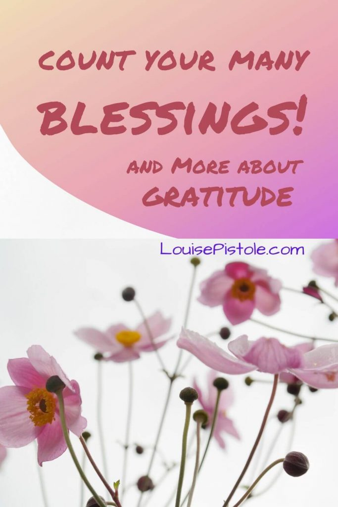 Count your many blessings and more about gratitude.