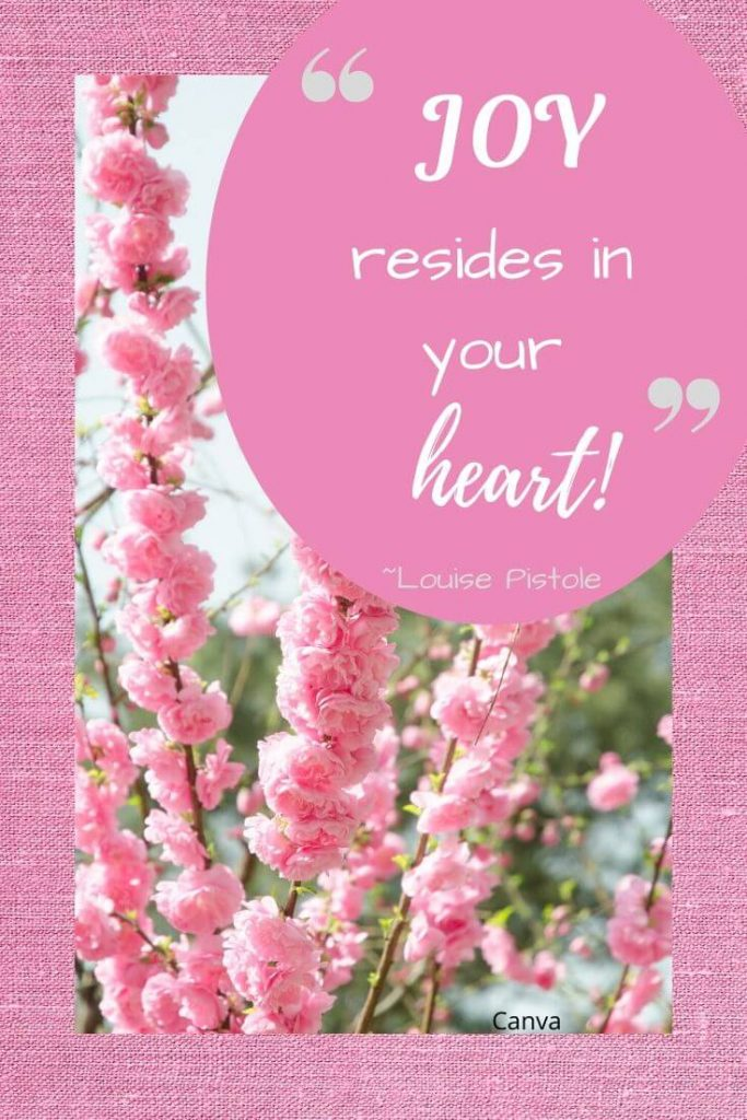 JOY resides in your heart!